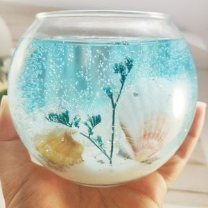 Beach Handmade gel wax candle holder home decor